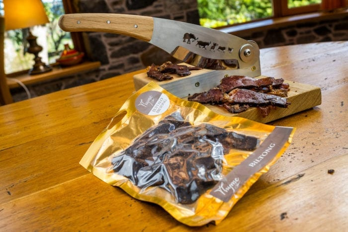 Buffalo Biltong, made at Errichel