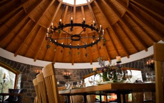 Inside the Round house dining room