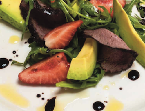 Smoked Venison and Strawberry Salad Serves 6