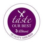 Taste our Best - Thyme Bistro is accredited by VisitScotland