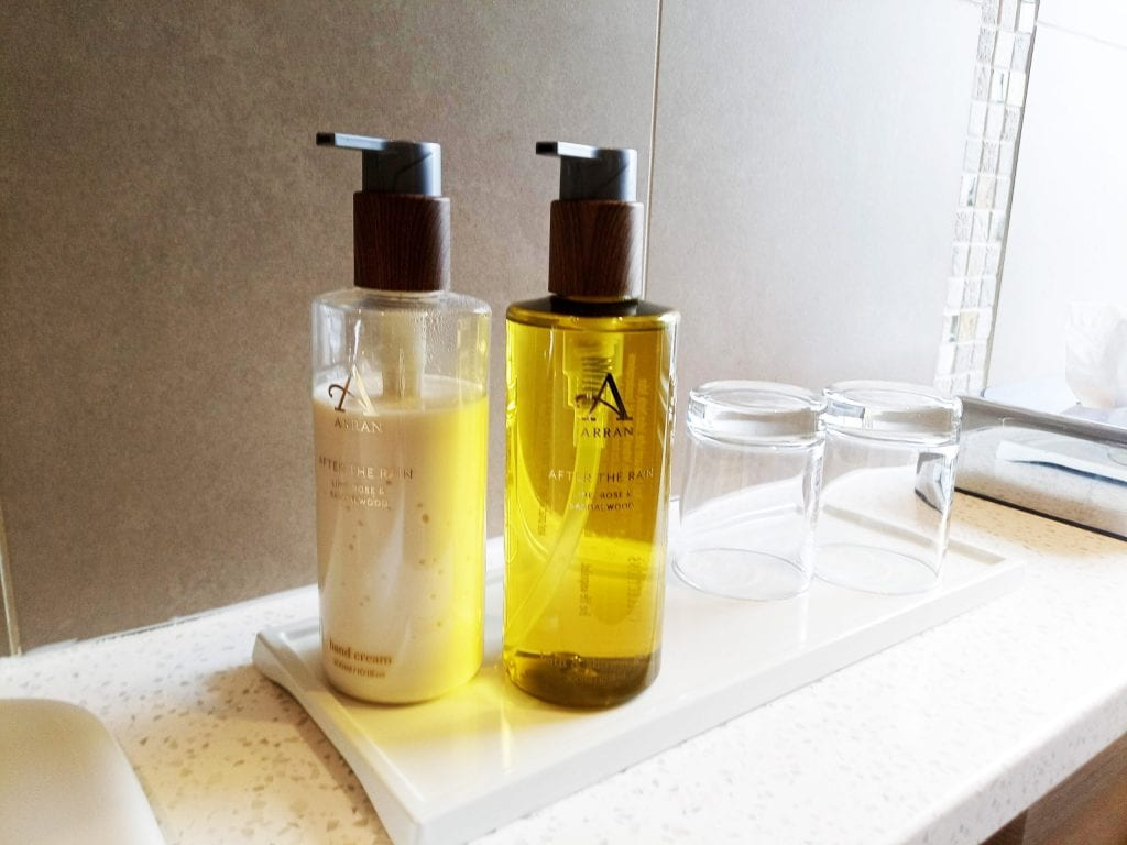 Arran Aromatics toiletries Room 2