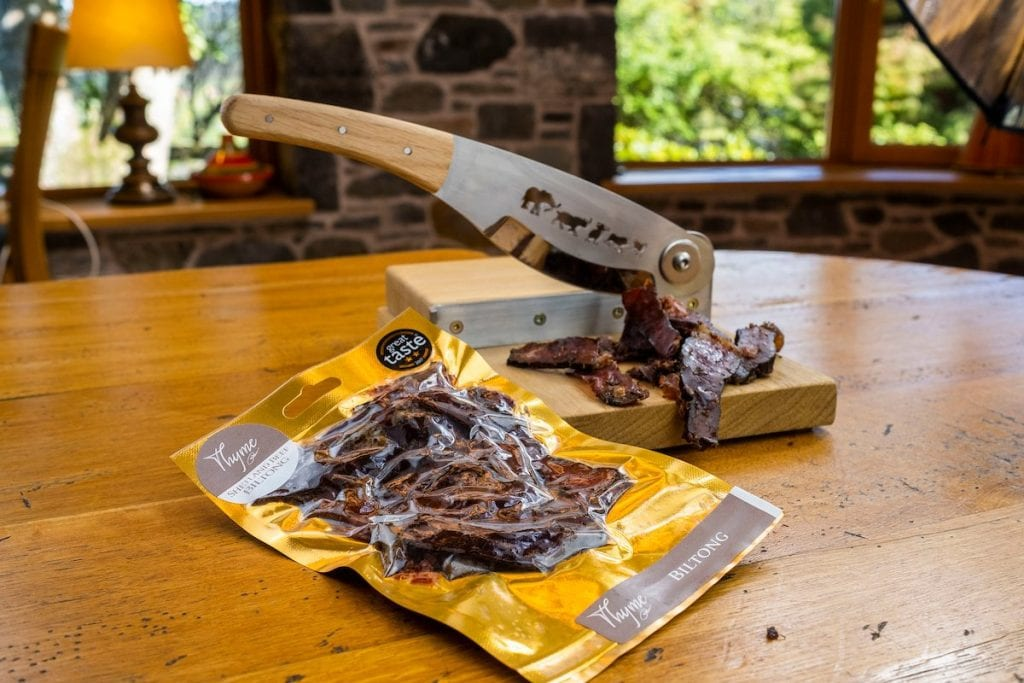 Beef Biltong UK made at Errichel, Highland Perthshire