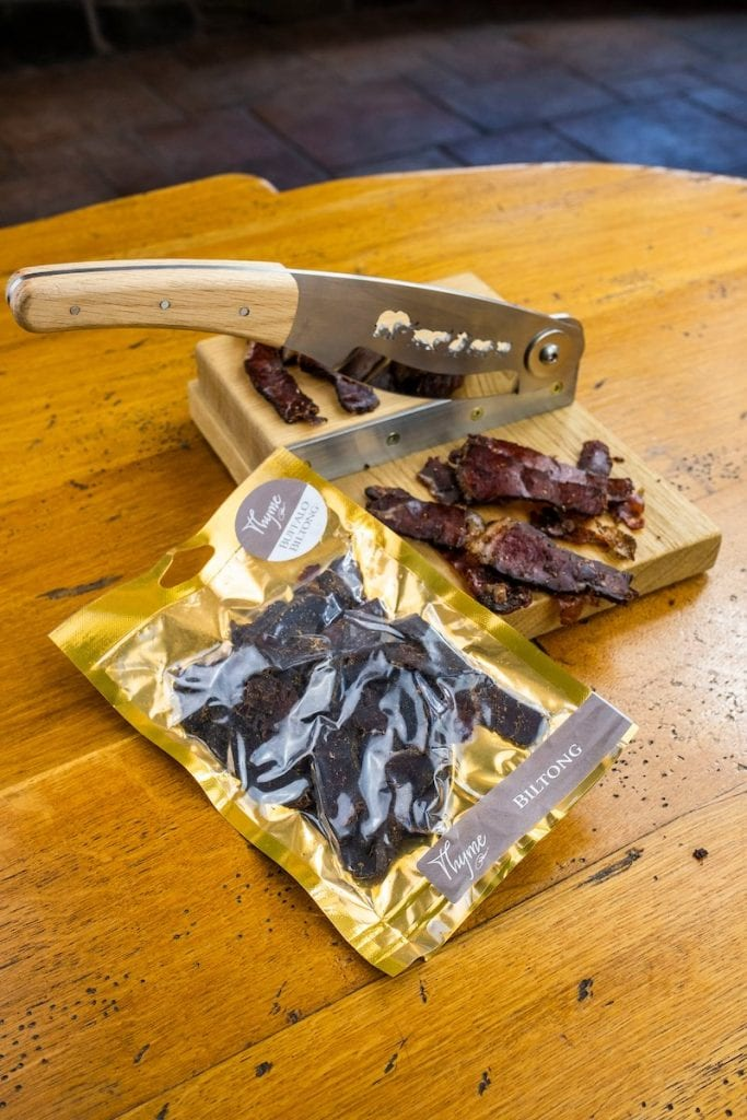 Beef Biltong UK made by Paul Newman at Errichel