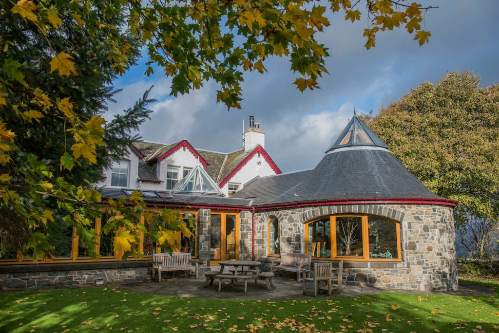Our roundhouse, the perfect location for afternoon tea in Aberfeldy